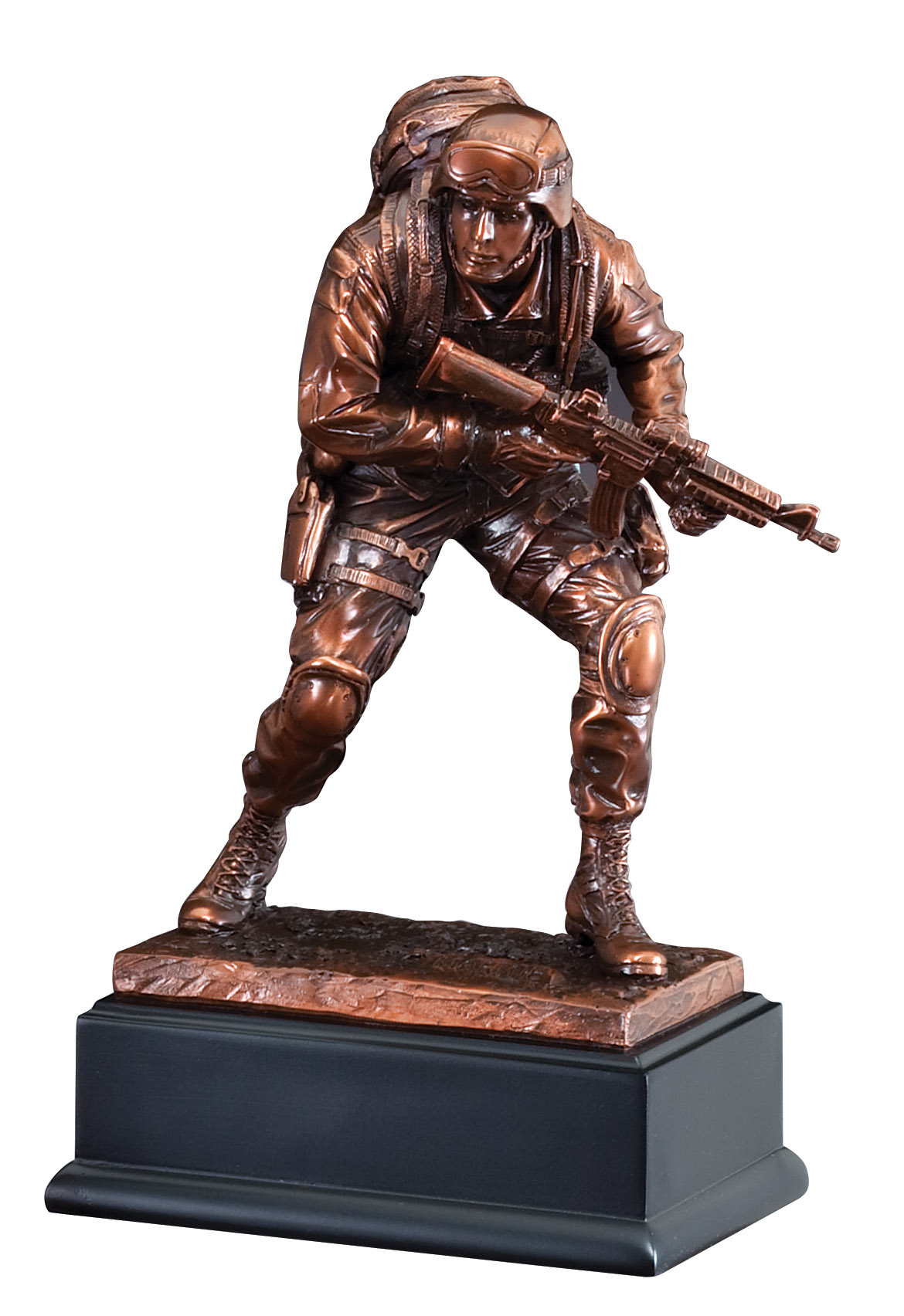 "10"" Bronze Marine Figure"