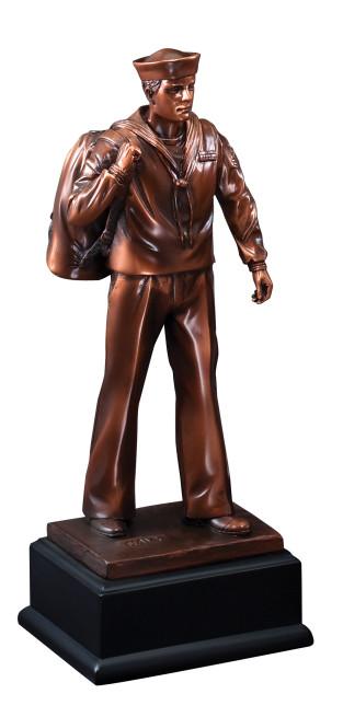 """11 1/2"""" Bronze Navy Figure"""
