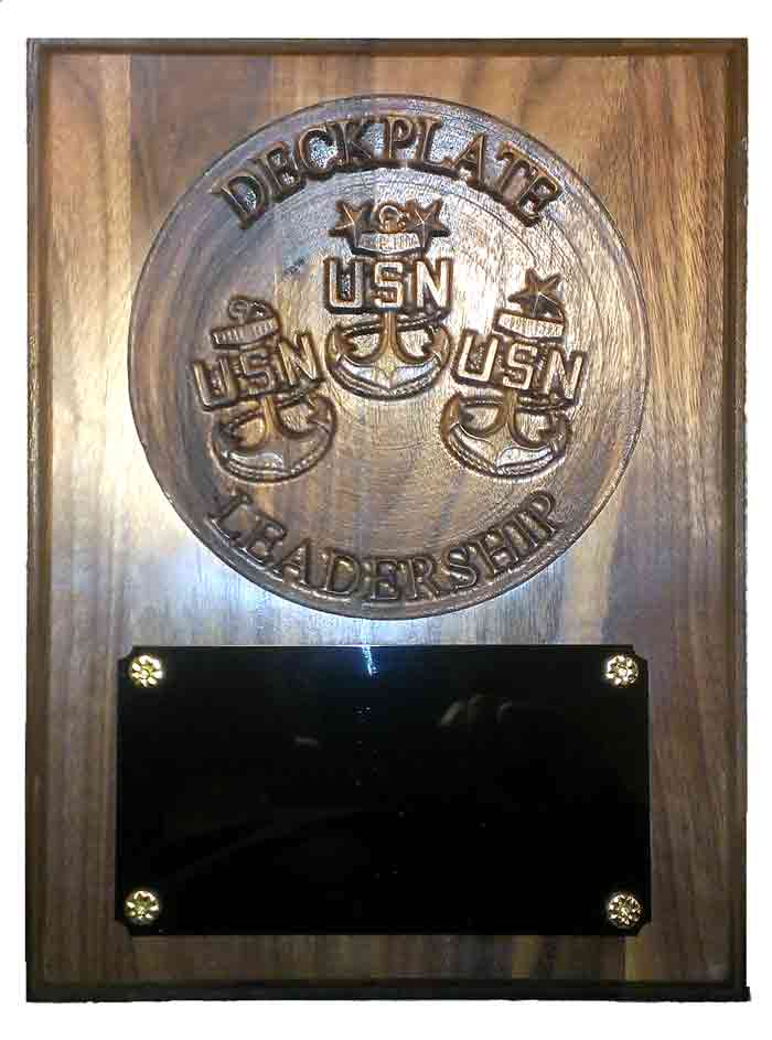 Deckplate Leadership Plaque W254