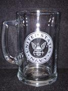 Navy Beer Stein