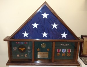 Traditional Style Military Shadow Box in Walnut