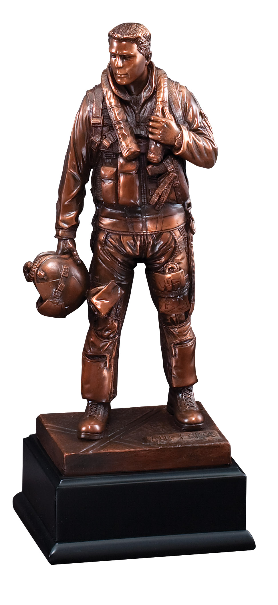 "11 1/2"" Bronze Airforce Figure"