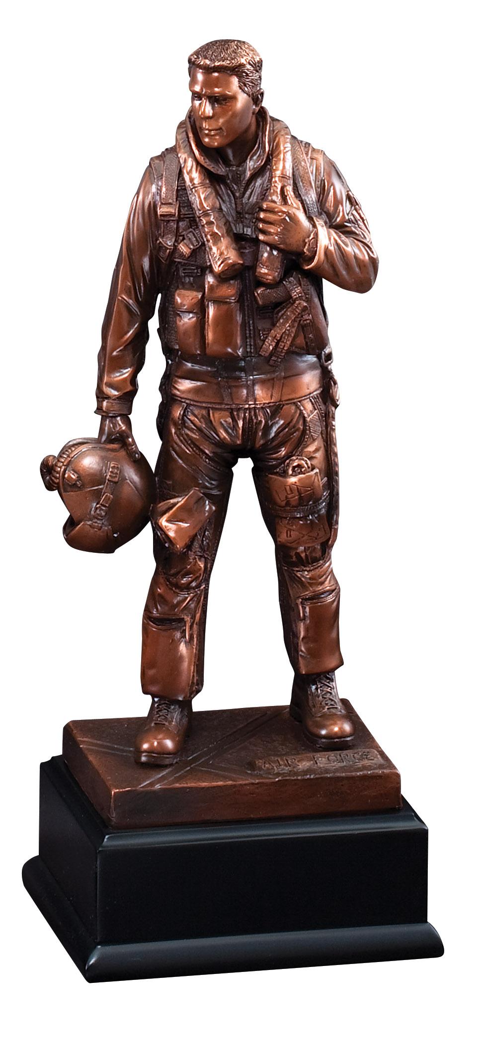 "11 1/2"" Bronze Airforce Figure"