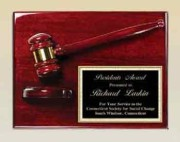 AGP40 Rosewood Gavel Plaque