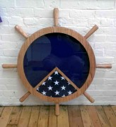Ships Wheel Shadow Box