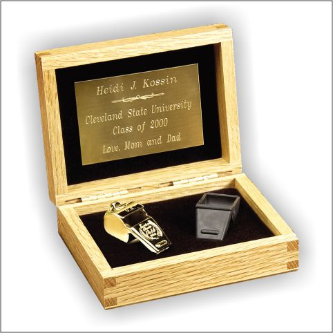 Coaches Whistle Gift Set in Gold